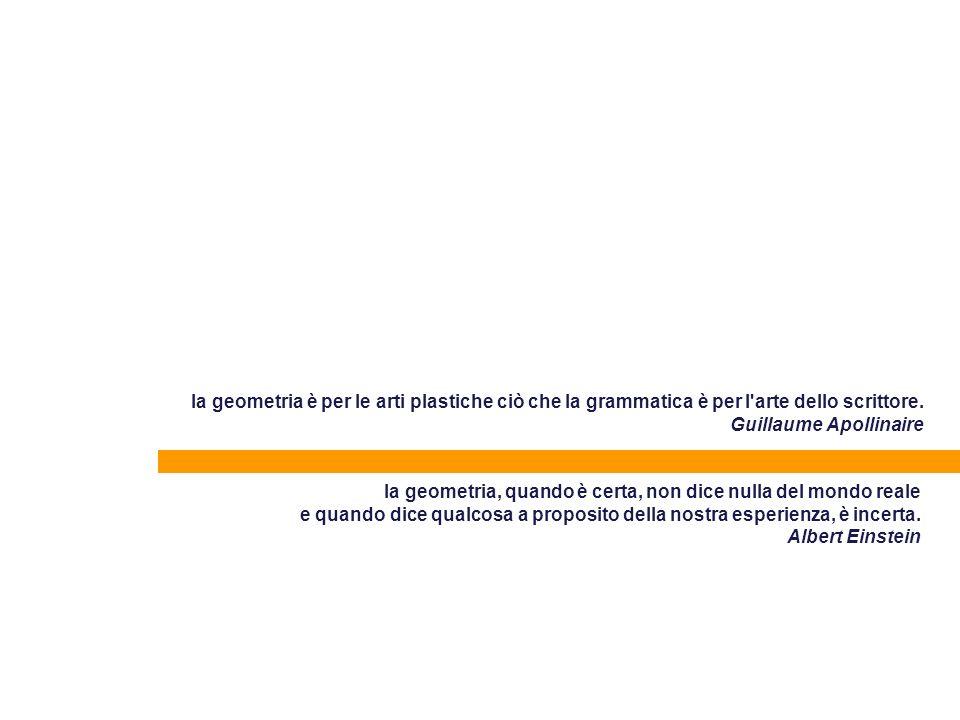 la geometria è per le arti plastiche ciò che la grammatica è per l arte dello scrittore. Guillaume Apollinaire