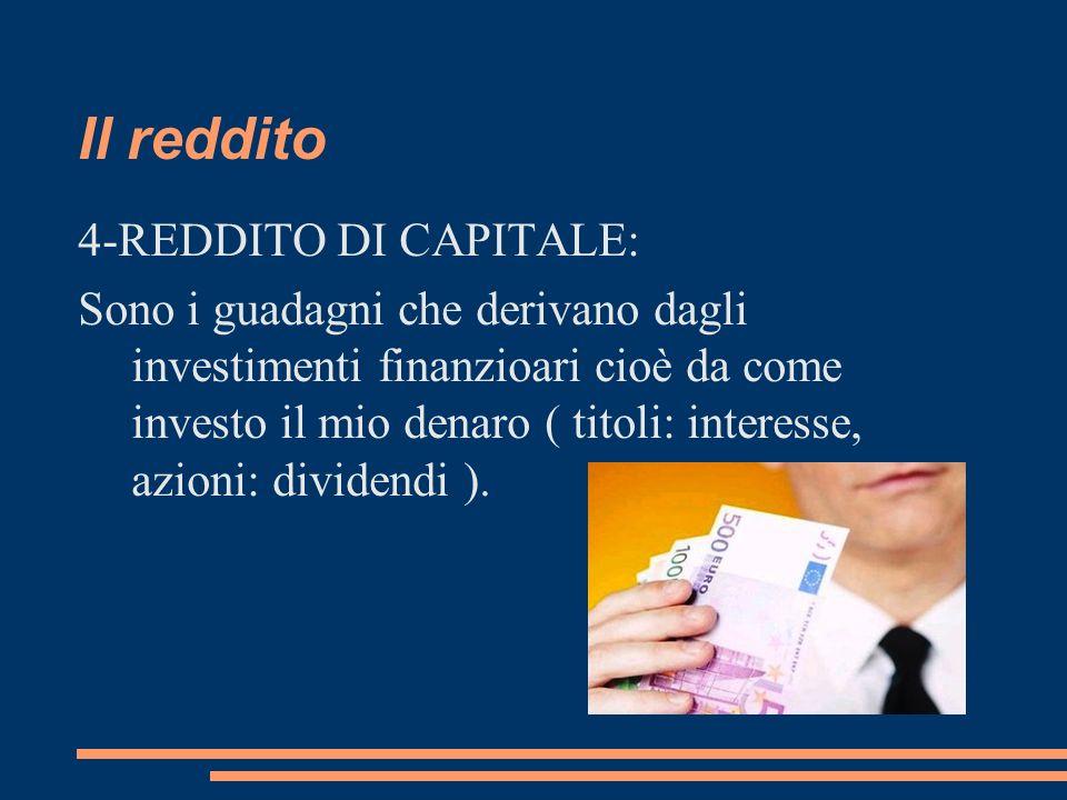 Il reddito 4-REDDITO DI CAPITALE: