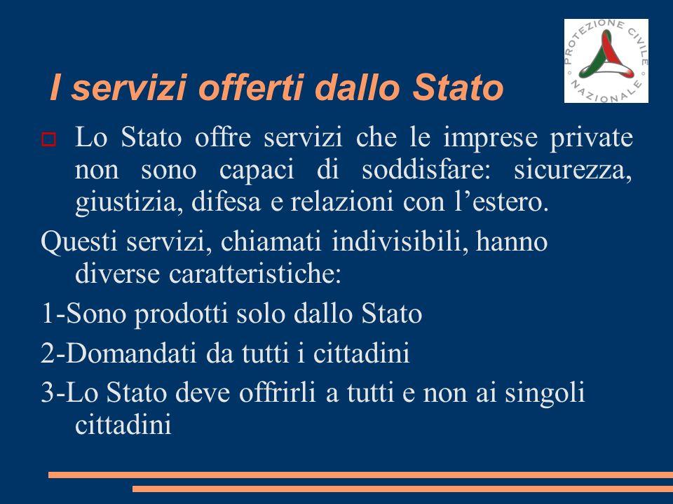 I servizi offerti dallo Stato