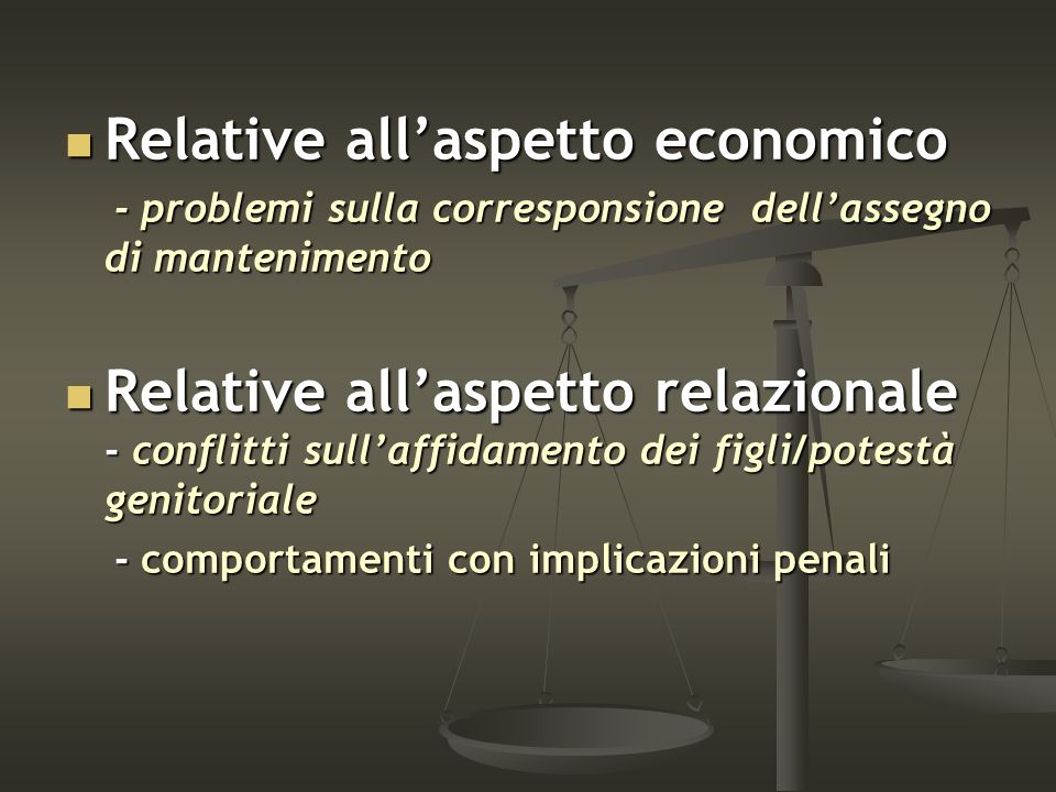 Relative all'aspetto economico