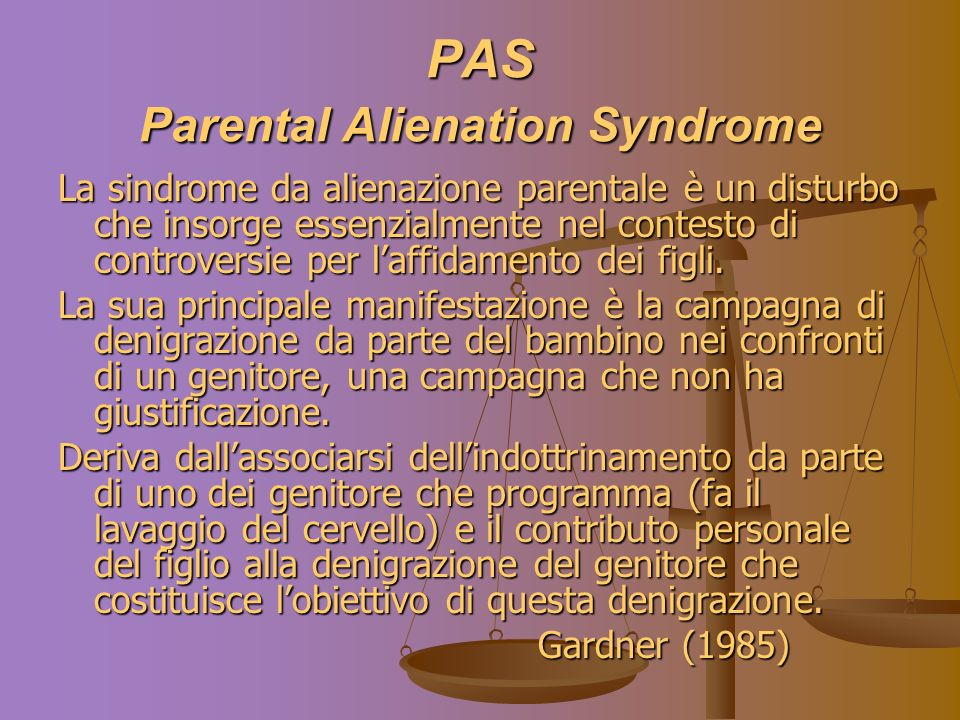 PAS Parental Alienation Syndrome