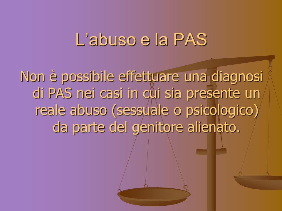L'abuso e la PAS