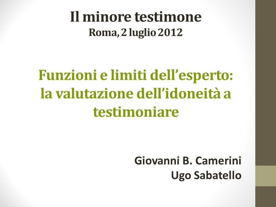 Giovanni B. Camerini Ugo Sabatello