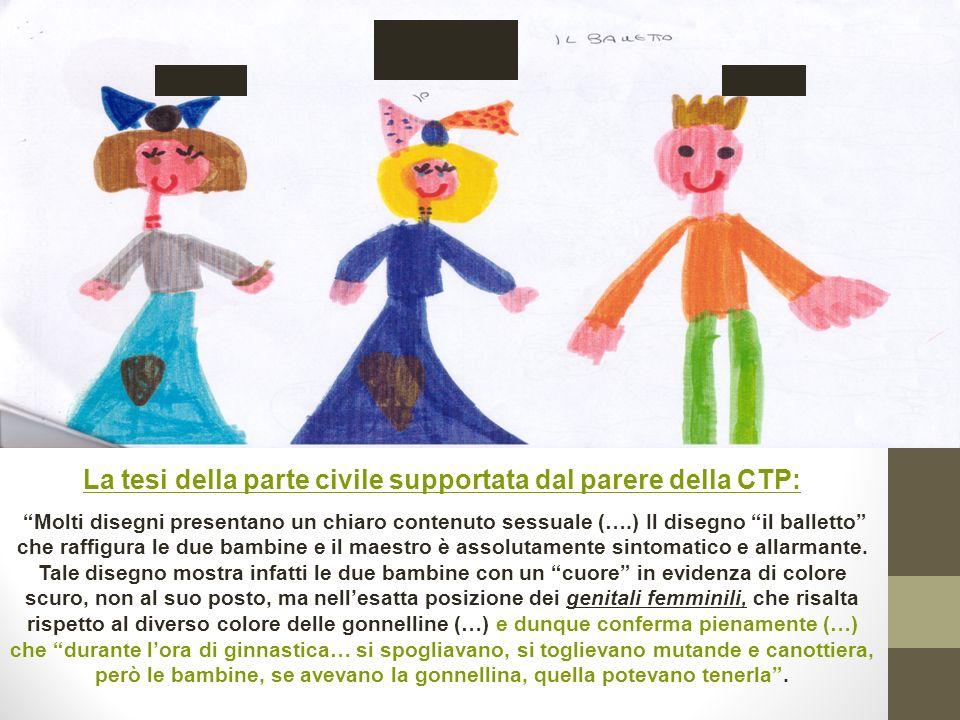 La tesi della parte civile supportata dal parere della CTP:
