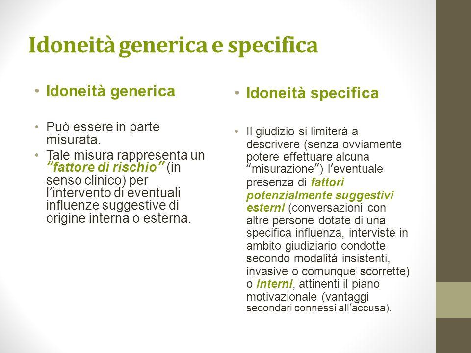Idoneità generica e specifica