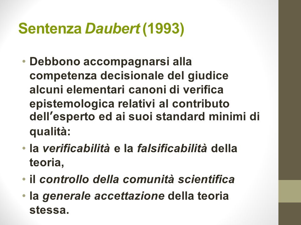 Sentenza Daubert (1993)
