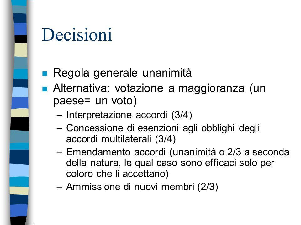 Decisioni Regola generale unanimità
