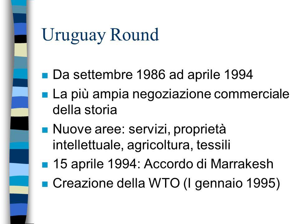 Uruguay Round Da settembre 1986 ad aprile 1994