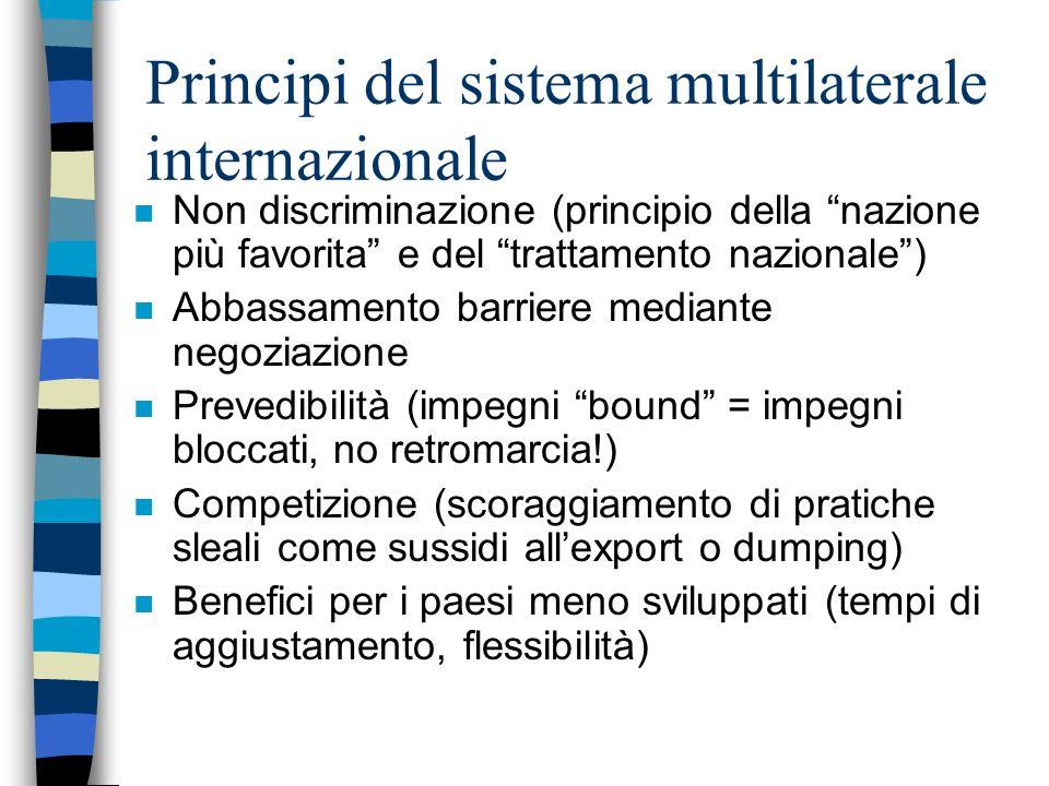 Principi del sistema multilaterale internazionale
