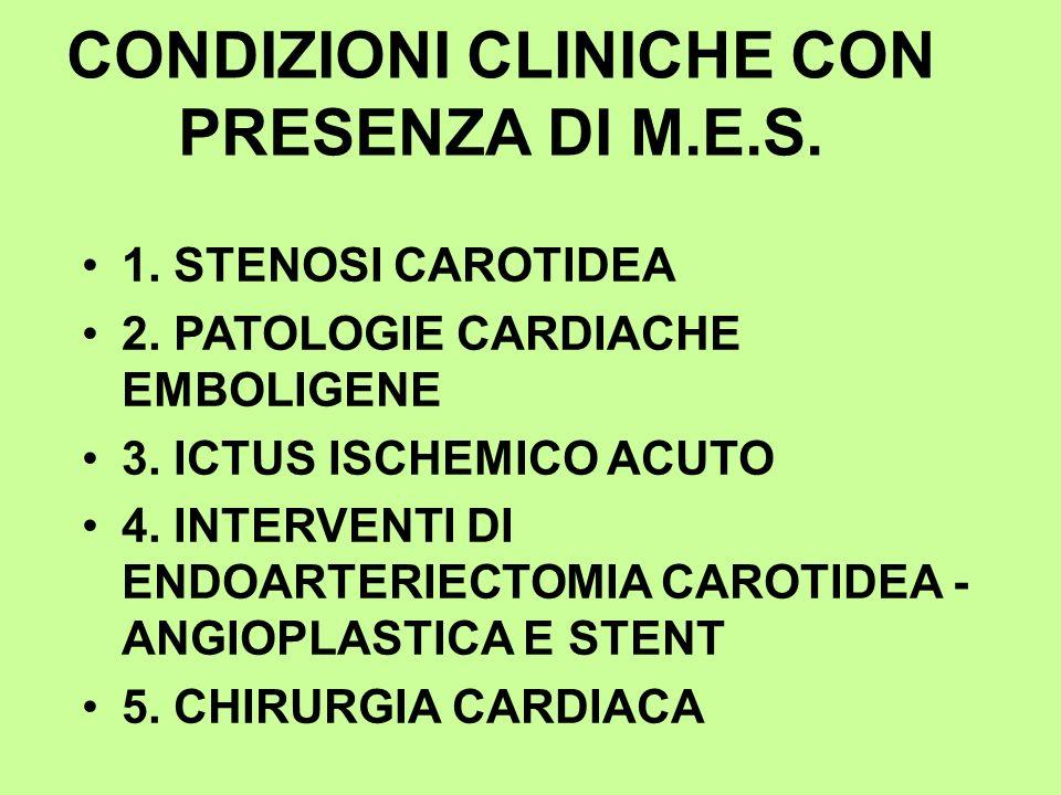 CONDIZIONI CLINICHE CON PRESENZA DI M.E.S.