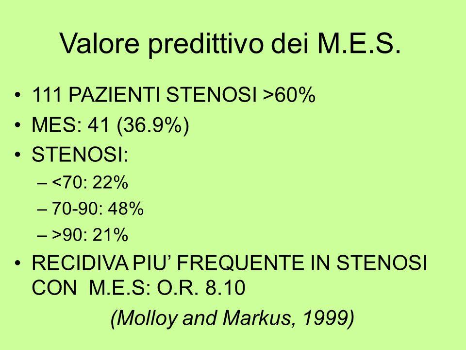 Valore predittivo dei M.E.S.
