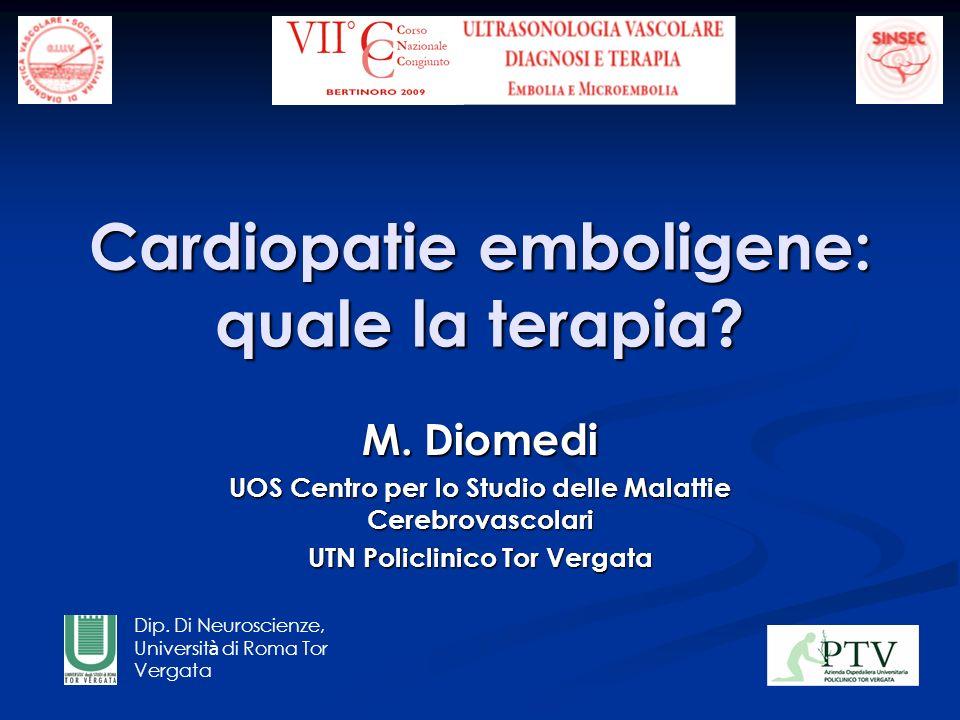 Cardiopatie emboligene: quale la terapia