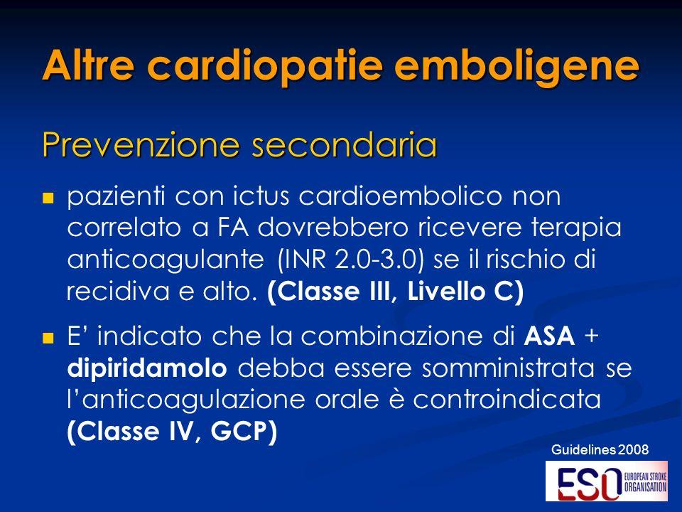 Altre cardiopatie emboligene