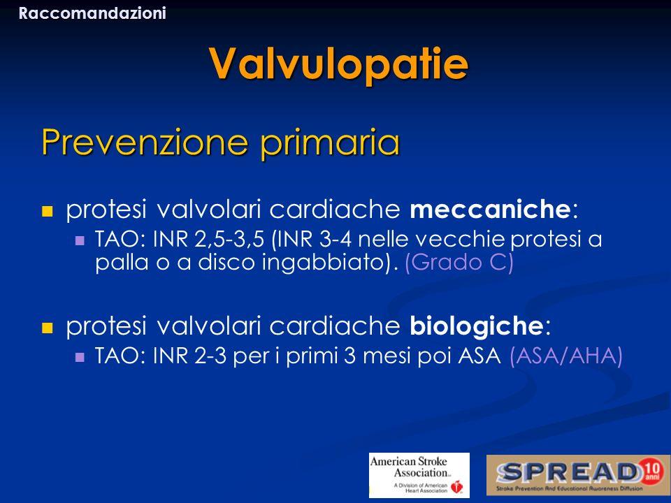 Valvulopatie Prevenzione primaria