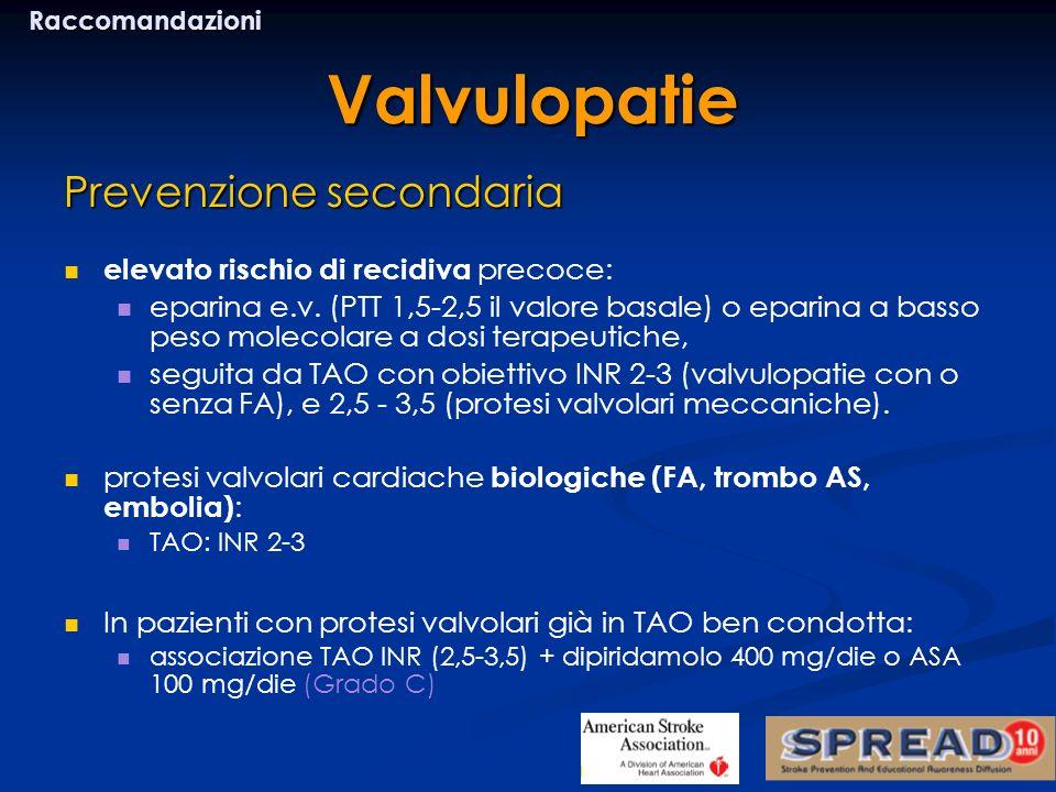 Valvulopatie Prevenzione secondaria