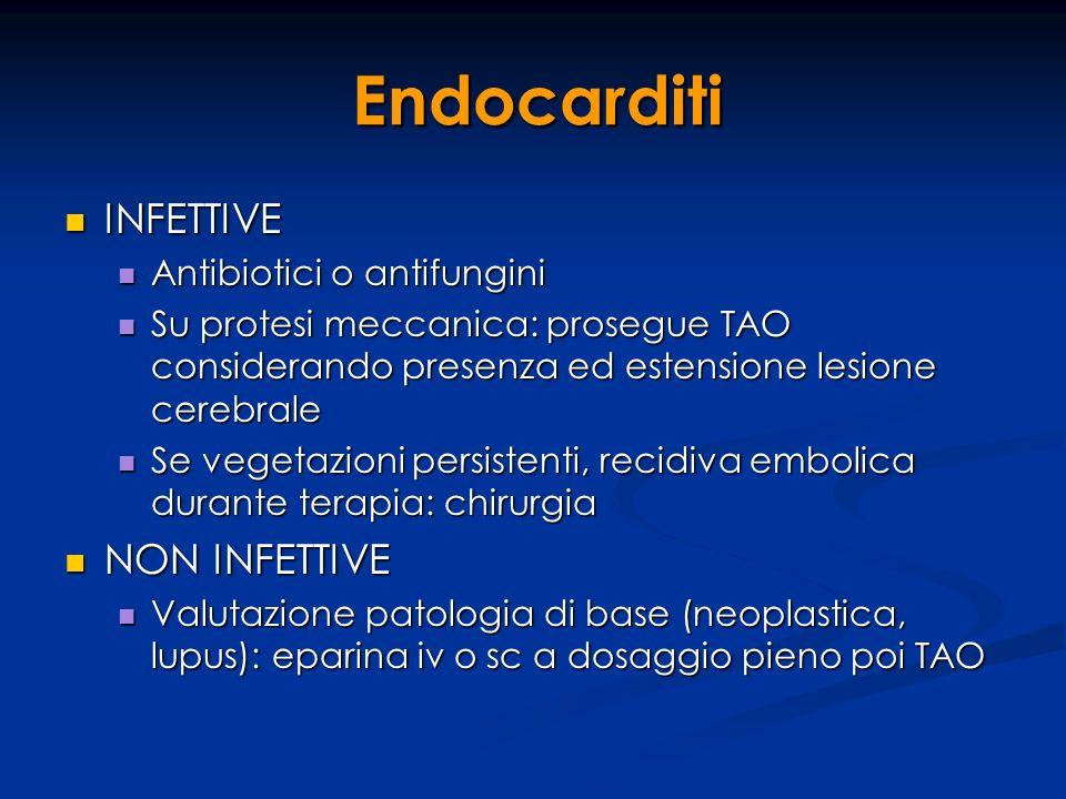 Endocarditi INFETTIVE NON INFETTIVE Antibiotici o antifungini