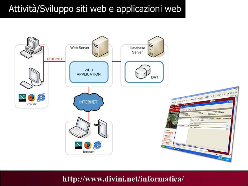 Attività/Sviluppo siti web e applicazioni web