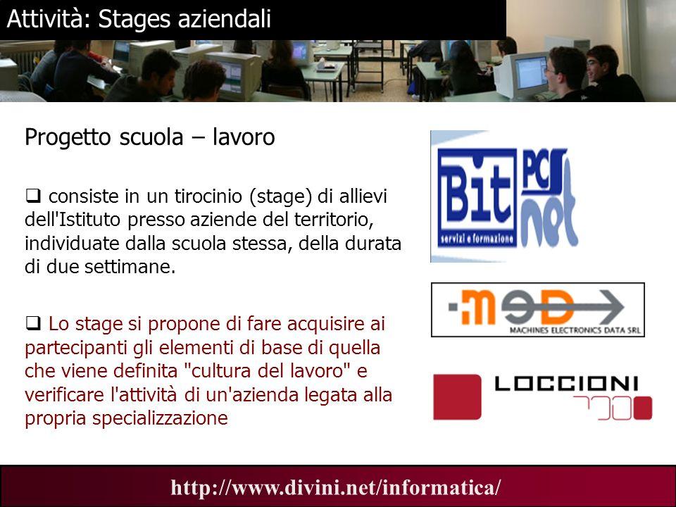 Attività: Stages aziendali