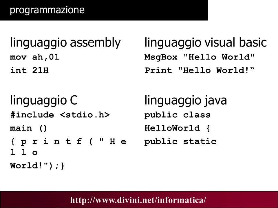 linguaggio visual basic
