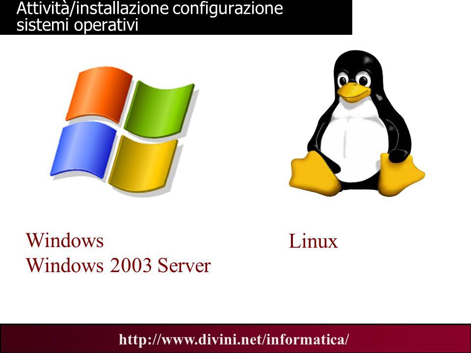 Attività/installazione configurazione sistemi operativi