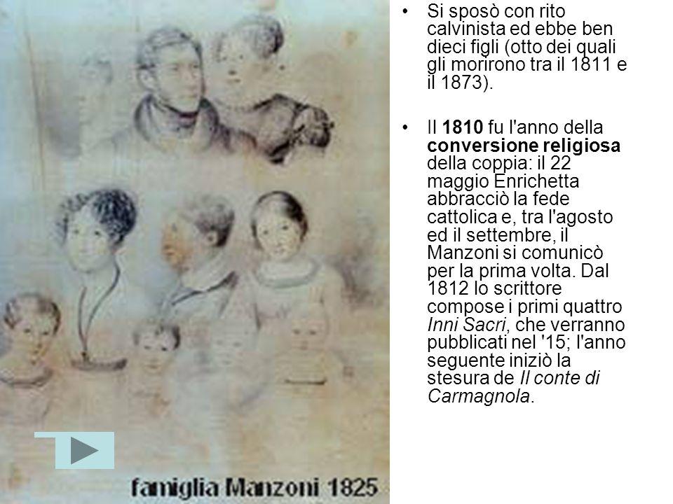 Si sposò con rito calvinista ed ebbe ben dieci figli (otto dei quali gli morirono tra il 1811 e il 1873).