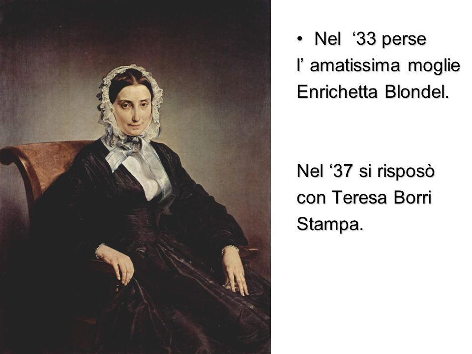 Nel '33 perse l' amatissima moglie Enrichetta Blondel. Nel '37 si risposò con Teresa Borri Stampa.