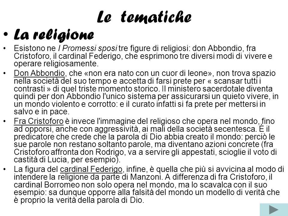 Le tematiche La religione