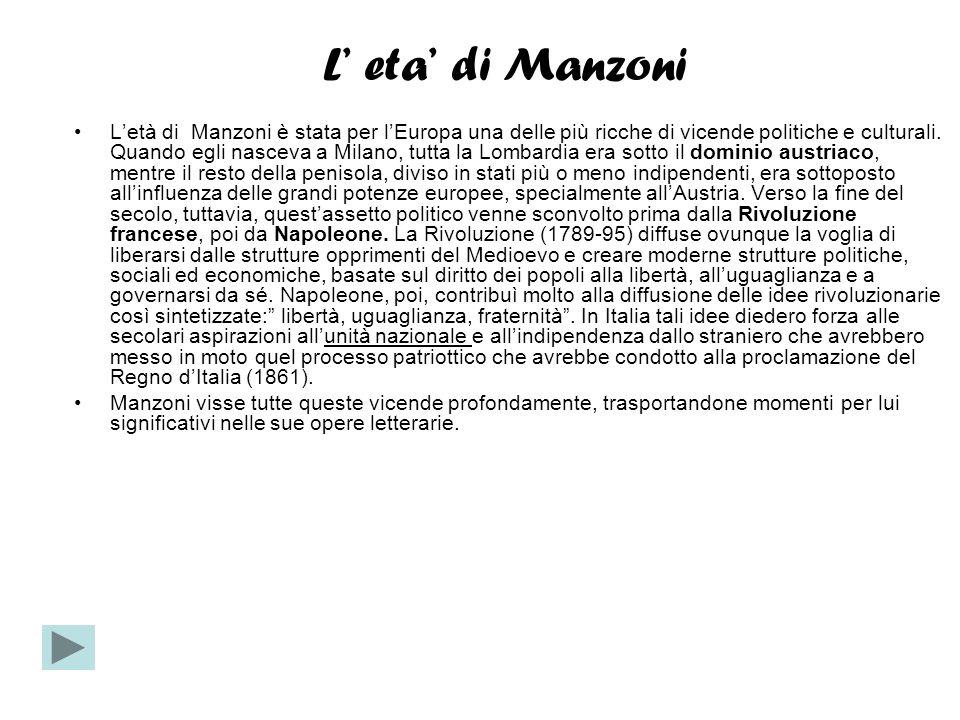L' eta' di Manzoni