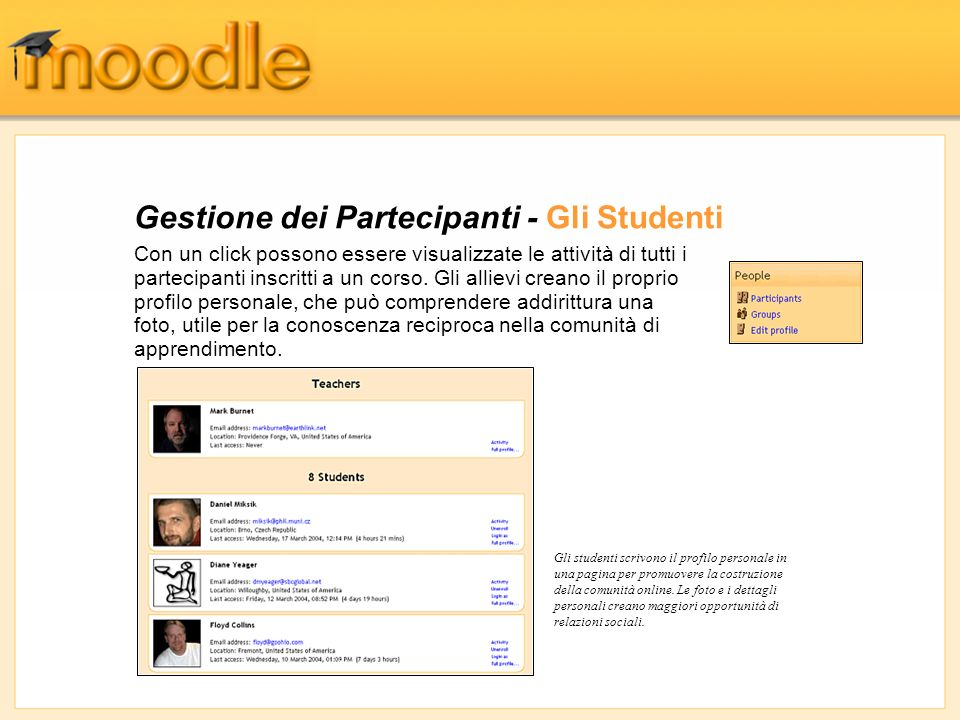 Gestione dei Partecipanti - Gli Studenti