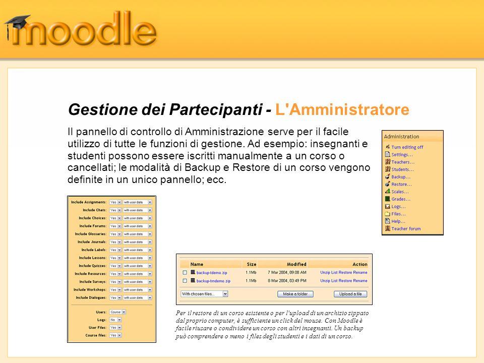 Gestione dei Partecipanti - L Amministratore