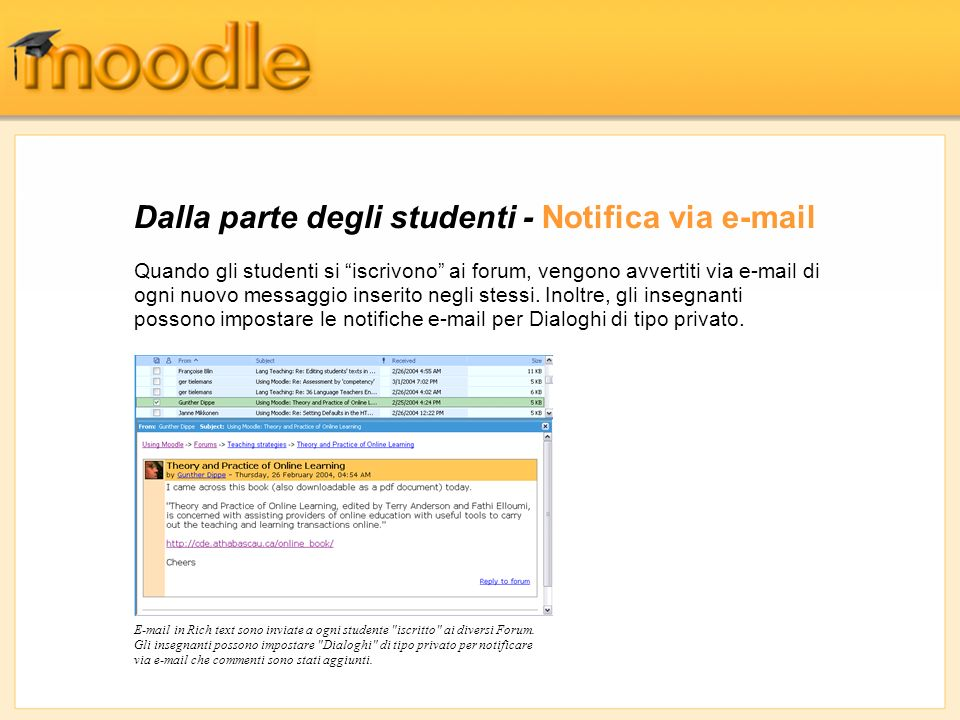 Dalla parte degli studenti - Notifica via e-mail