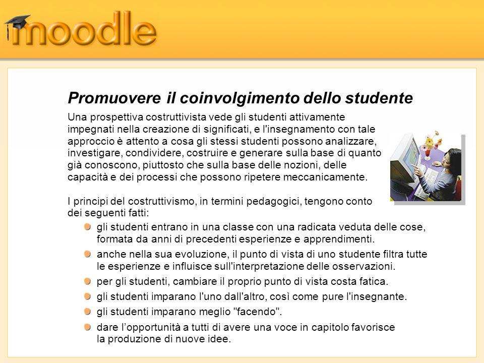 Promuovere il coinvolgimento dello studente
