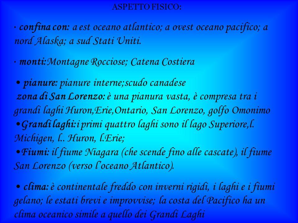 pianure: pianure interne;scudo canadese