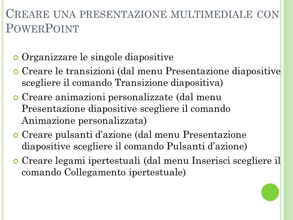 Creare una presentazione multimediale con PowerPoint