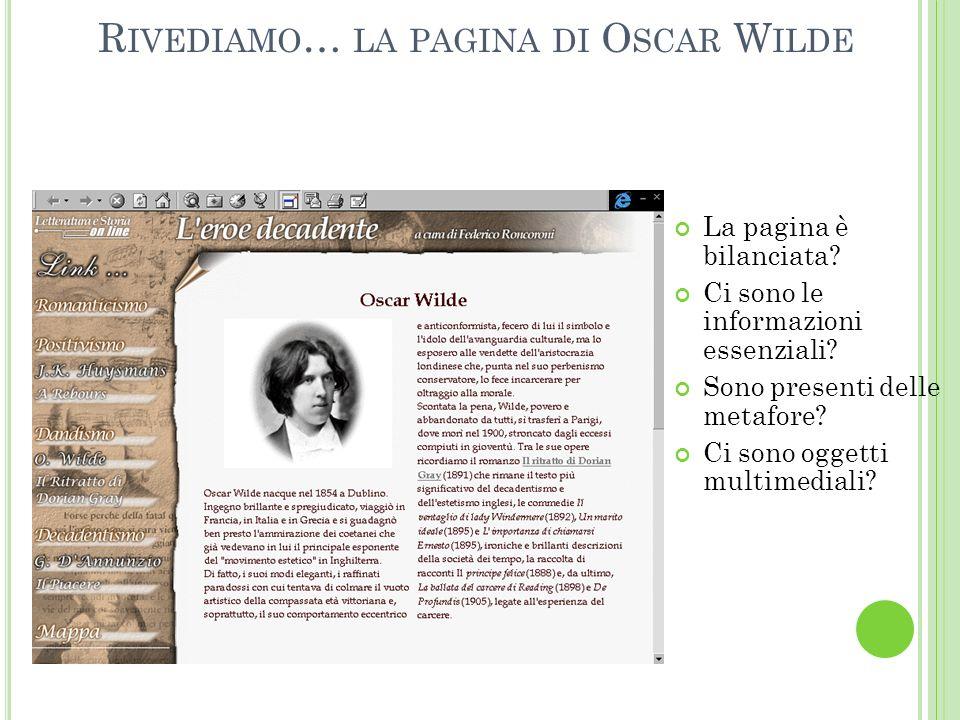Rivediamo… la pagina di Oscar Wilde