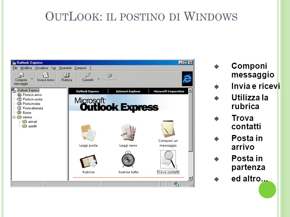 OutLook: il postino di Windows