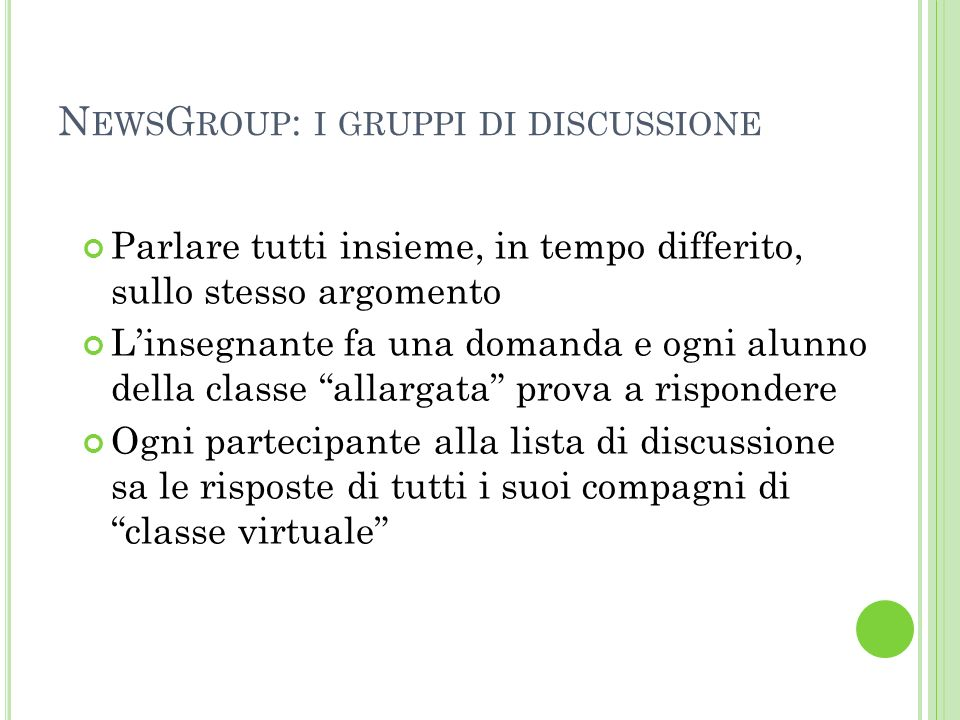 NewsGroup: i gruppi di discussione