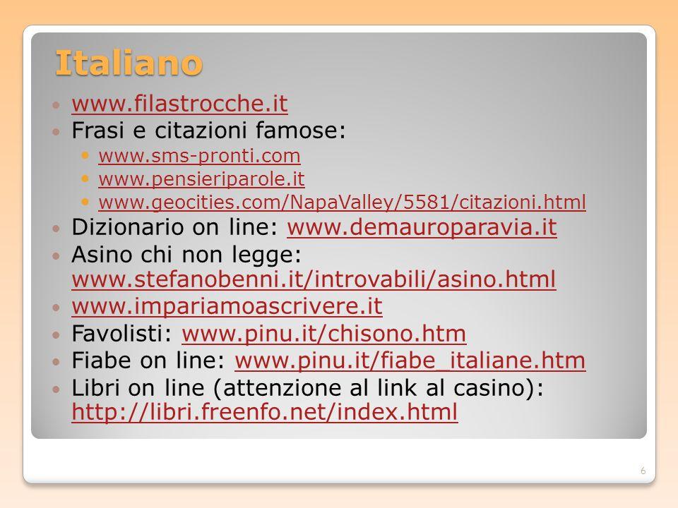 Italiano www.filastrocche.it Frasi e citazioni famose: