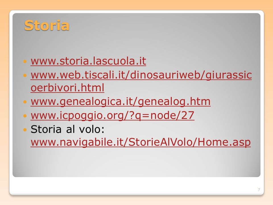 Storia www.storia.lascuola.it