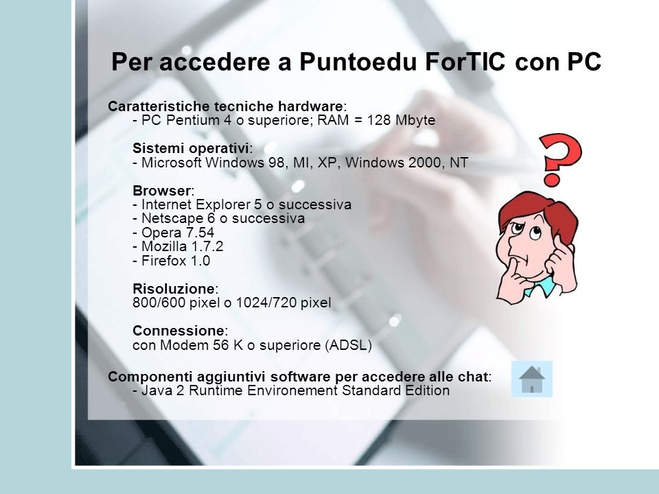 Per accedere a Puntoedu ForTIC con PC