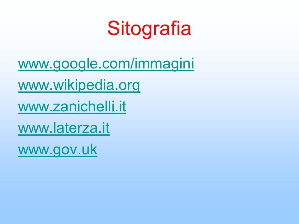 Sitografia www.google.com/immagini www.wikipedia.org www.zanichelli.it