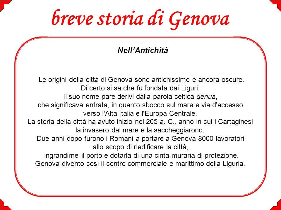 breve storia di Genova Nell'Antichità