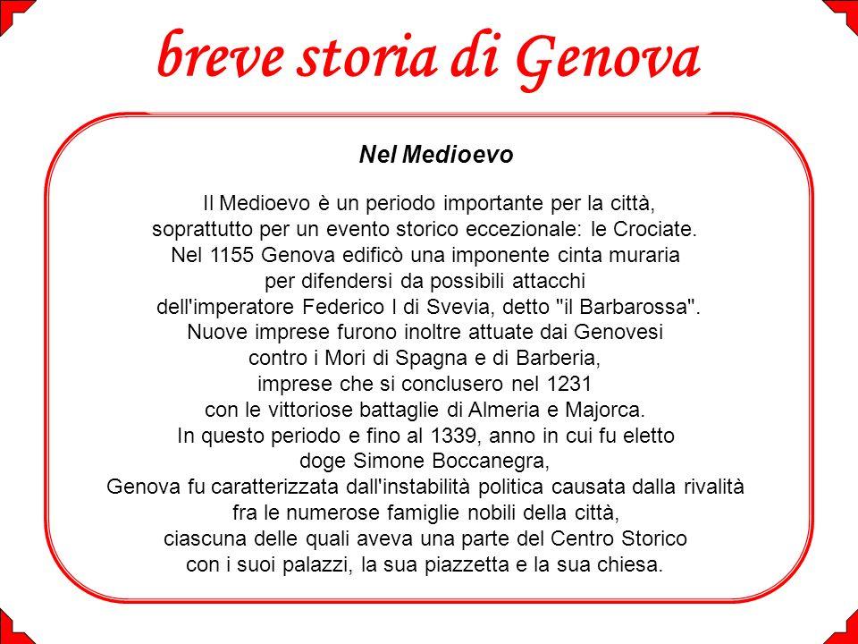 breve storia di Genova Nel Medioevo