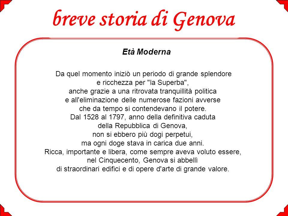 breve storia di Genova Età Moderna