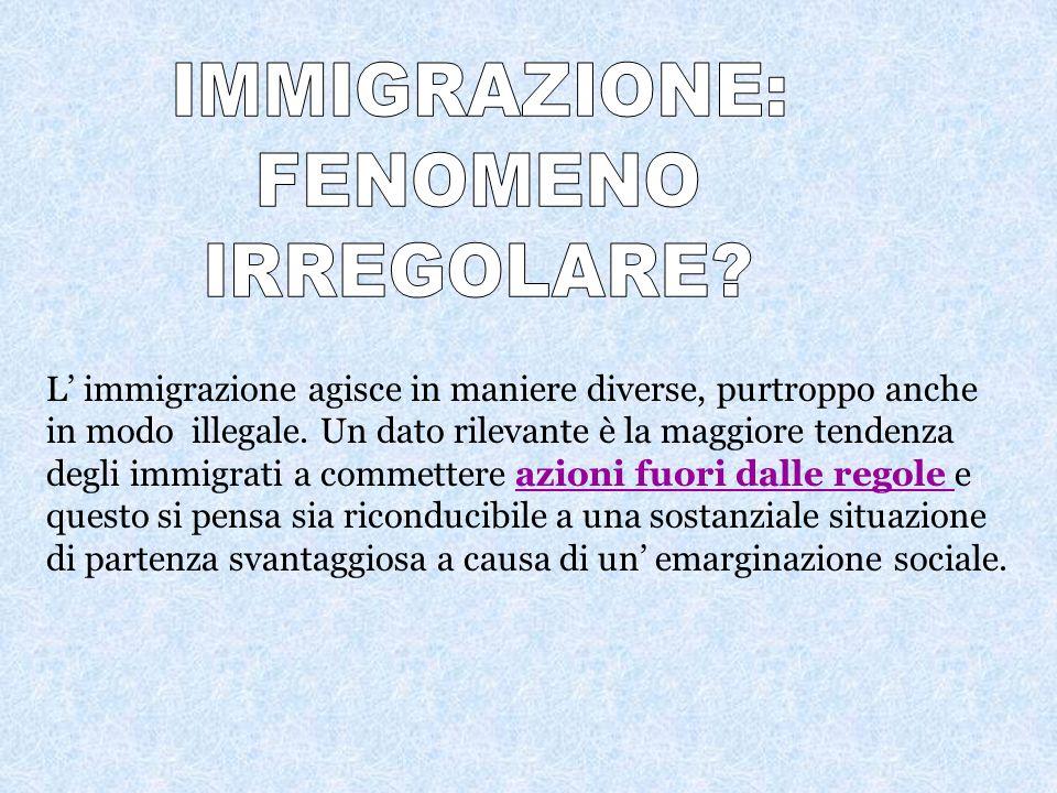 IMMIGRAZIONE: FENOMENO IRREGOLARE