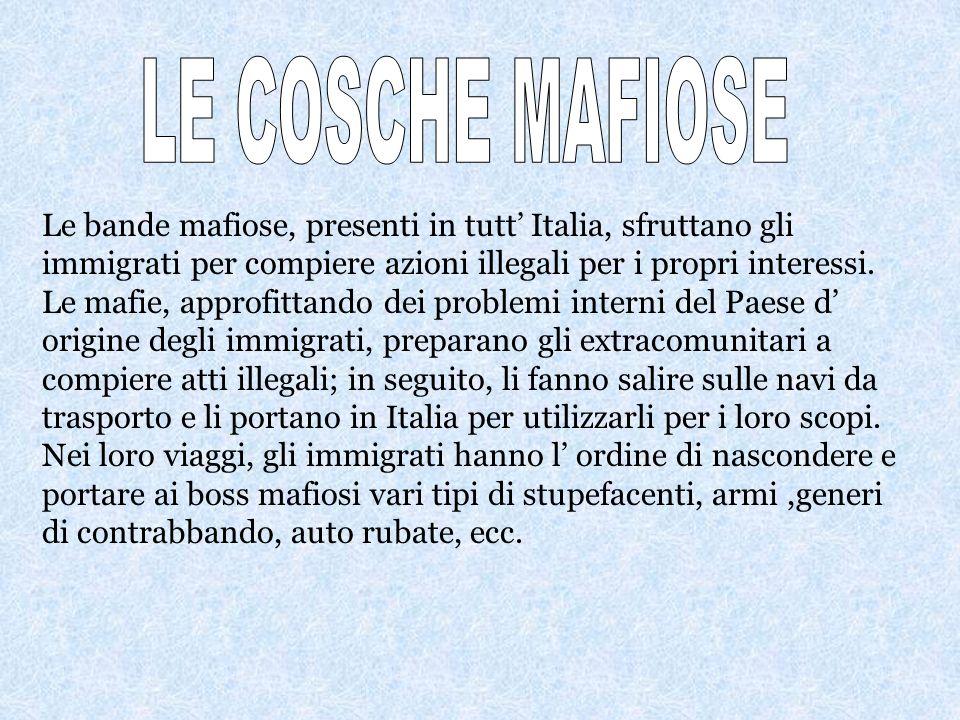 LE COSCHE MAFIOSE