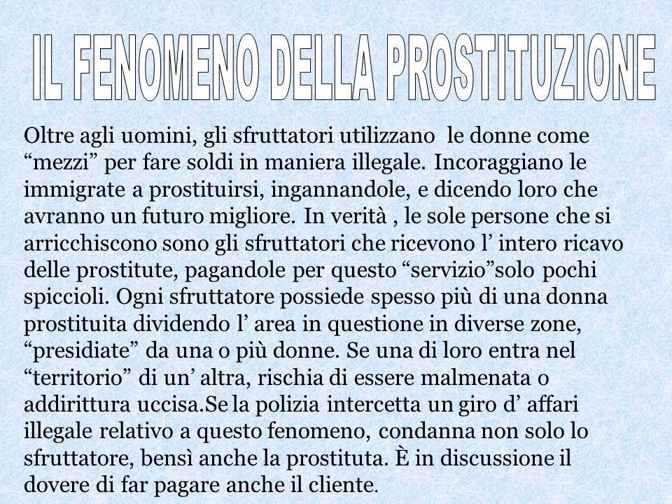 IL FENOMENO DELLA PROSTITUZIONE