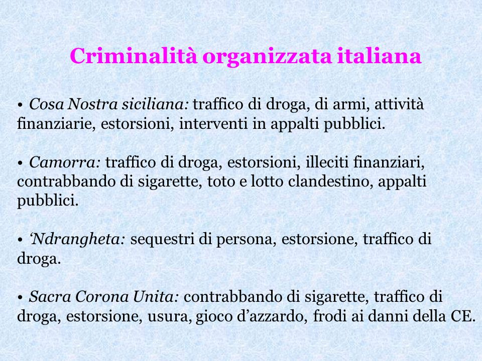 Criminalità organizzata italiana