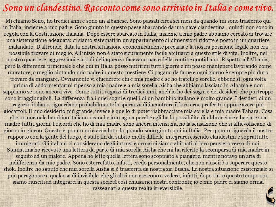 Sono un clandestino. Racconto come sono arrivato in Italia e come vivo.