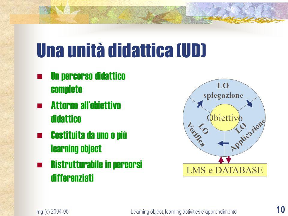 Una unità didattica (UD)